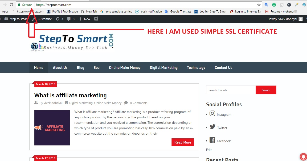 What Is Ssl Certificate And How To Install Free Step To Smart