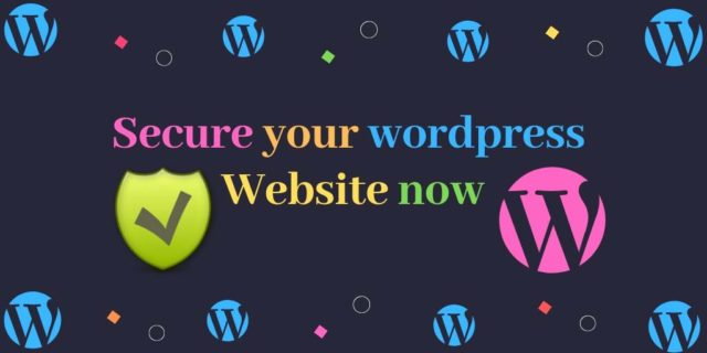secure wordpress website now