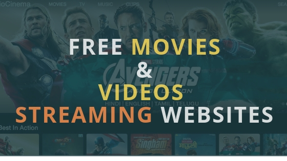 free movies & videos streaming websites